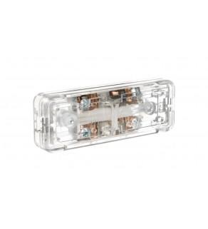 Wyłącznik suwakowy przelotowy lub końcowy 2-torowy 2,5A/250V bezbarwny WS-2P/BEZB