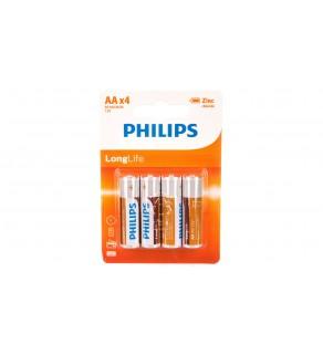 Bateria cynkowo-węglowa R6 / AA 1,5V LongLife R6L4B/10 /blister 4szt.