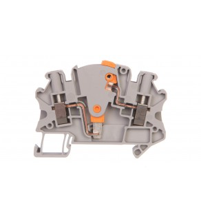 Złączka szynowa rozłączalna do przekładników pomiarowych 2-przewodowa 4mm2 szara UTME 4-P/P 3047453