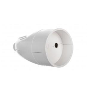 Gniazdo przenośne b/u 16A 2P 250V białe GN-161