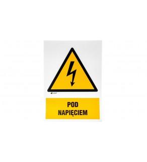 Tabliczka ostrzegawcza /POD NAPIĘCIEM 148X210/ 2EOA/Q4/F