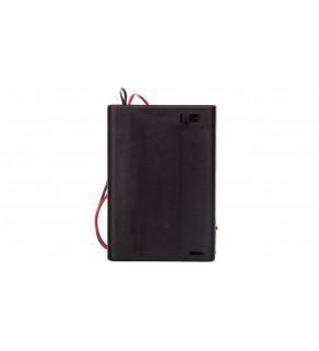 Koszyk na baterie 3x AA z przewodem i wyłącznikiem 12445