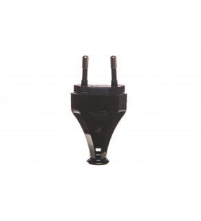 Złącze naprawcze /wtyczka płaska/ b/u Euro 2,5A 250V czarne ZN-11/CZARNY