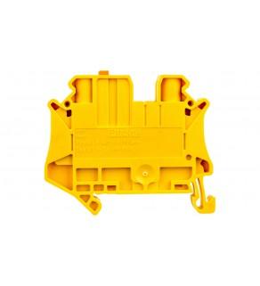 Złączka przelotowa 2-przewodowa z odłącznikiem nożowym 6mm2 żółta UT 6-MT P/P YE 3064073