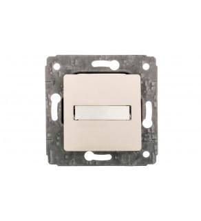 CARIVA Przycisk z uchwytem etykiety 12V 6A-250V kremowy 773712