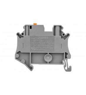 Złączka przelotowa 2-przewodowa z odłącznikiem nożowym 4mm2 szara Ex UT 4-MT-P/P-EX 3046173