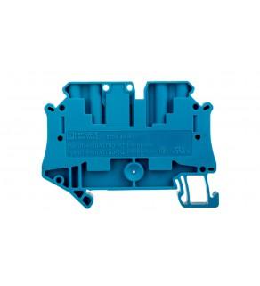 Złączka szynowa rozłączalna 4-przewodowa 4mm2 niebieska UT 4-QUATTRO-TG BU 3073076