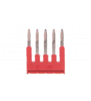 Mostek wtykany 5-biegunowy czerwony FBS 5-4 3030145