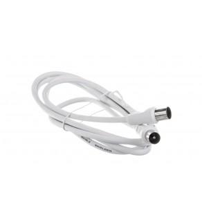 Przewód antenowy IEC 1,5m biały 11510