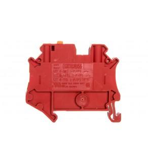 Złączka przelotowa 2-przewodowa z odłącznikiem nożowym 4mm2 czerwona UT 4-MT RD 3046279