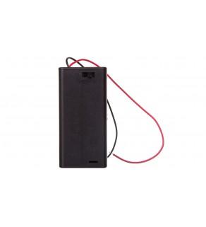 Koszyk na baterie 2x AA z przewodem i wyłącznikiem 12443