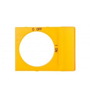 Tabliczka opisowa czysta do pokręteł OH2 żółta OPY2 1SCA022353R4200