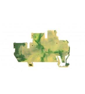 Złączka dwupiętrowa bazowa X-COM 2-przewodowa / 2-pinowa żółto-zielona 870-107