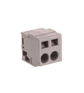 Listwa zaciskowa do płytek drukowanych 2-biegunowa szara raster 5mm 739-102
