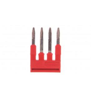 Mostek wtykany 4-biegunowy czerwony FBS 4-4 3030132