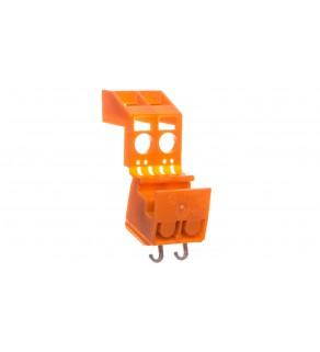 Złączka do transformatorów 2x 1,5-2,5mm2 pomarańczowa 200-605/999-991