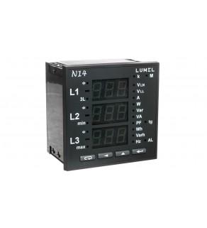Miernik sieci 3-fazowej wej. I 5A wej. U 3x230/400V bez atestu KJ N14 22000