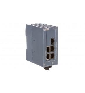 Switch przemysłowy niezarządzalny 5 portów RJ45 10/100 Mb/s SCALANCE XB005 6GK5005-0BA00-1AB2