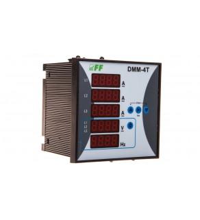 Miernik parametrów sieci 3-fazowy 12-400V AC 1-9000/5A 10-100Hz cyfrowy tablicowy 96x96mm DMM-4T