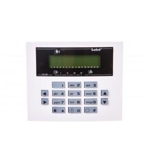 Klawiatura obsługi systemu alarmowego, LCD, 2 wejścia, wersja S, do systemu CA-10, Satel CA-10 KLCD-S