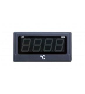 Miernik cyfrowy 4 cyfr wejście temperaturowe Pt100 -50-400st.C zasilanie 230V AC jednostka st.C N24 T210100P0