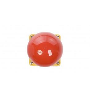 Duży przycisk bezpieczeństwa 1R 1Z bez samopowrotu czerwony IP67 FAK-R/V/KC11/IY 229748