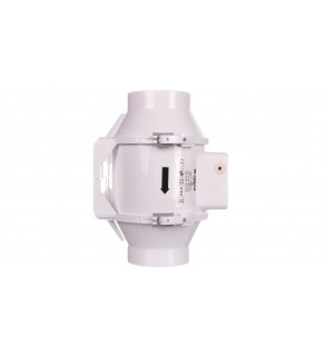 Wentylator kanałowy fi 100 230V 33W 187m3/h 36dB o przepływie mieszanym TT100