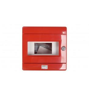 Szafka do wyłącznika p.poż. 1x8 moduły natynkowa czerwona 42 RV GW42202