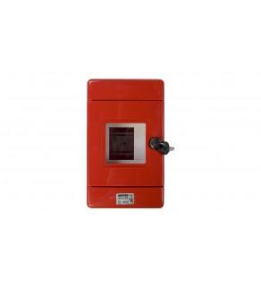 Szafka do wyłącznika p.poż. 1x4 moduły natynkowa czerwona 42 RV GW42206