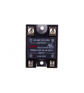 Przekaźnik półprzewodnikowy 1P 48-480VAC/25A Uster  4-32V DC RSR50-D32-A0-48-250-0 2612028
