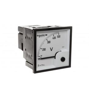 Woltomierz 1-fazowy analogowy pulpitowy 72x72mm 0-500V kl.1,5 VLT 16005
