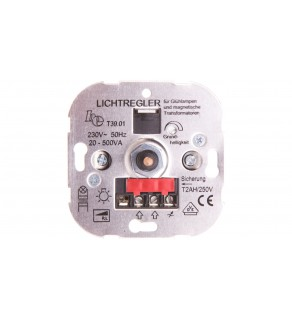 Optima Ściemniacz pokrętło 20-500VA 230V mechanizm 11007001