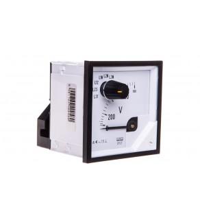 Woltomierz z przełącznikiem N E615 500V pozycja pracy C3 K 90 st. bez atestu KJ EP27NE6150000