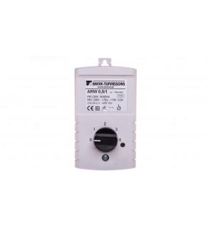 Regulator prędkości obrotowej 1-fazowy ARW 0,5/1 230V 0,5A IP54 17886-9962