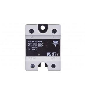 Przekaźnik półprzewodnikowy jednofazowy 24-265V AC 25A 20-280VAC/22-48VDC RM1A23A25