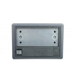Simon Connect Puszka SF podłogowa pojedyncza 2xK45 + SM102/9 szara SF170/1