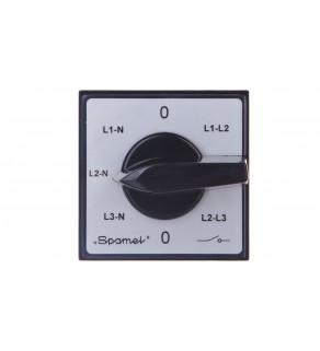 Przełącznik woltomierza 3xL-L i 3xL-N do wbudowania ŁK15-4.883P03
