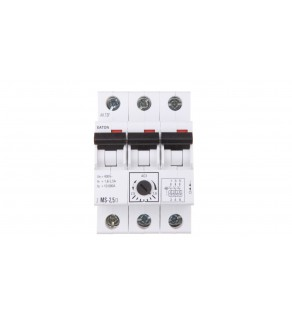 Wyłącznik silnikowy 3P 0,75kW 1,6-2,5A Z-MS-2,5/3 248408