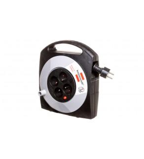 Przedłużacz zwijany kompaktowy Primera-Line Box 10m 4x230V H05VV-F3G1.5 1095454