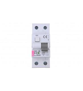 Wyłącznik różnicowo-nadprądowy 2P 20A B 0,03A typ AC KZS-2M 002173105