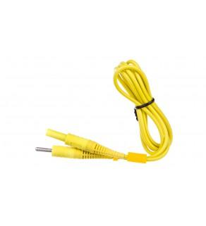 Przewód pomiarowy 1,2m żółty /wtyki bananowe/ (MZC-2) WAPRZ1X2YECC