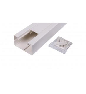 Simon Connect Kanal jednokomorowy Cabloplus PVC 90x55mm czysta biel TK12081/9