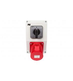 Zestaw instalacyjny z gniazdem 16A 5P RS-Z (0-1) czerwony 6271-00