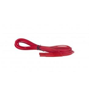 Przewód pomiarowy 5m czerwony /wtyki bananowe/ WAPRZ005REBB