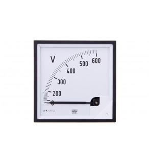 Woltomierz analogowy 96x96 N IP50 E616 600V pozycja pracy C3 K 90 st. bez atestu KJ EA19N E61600000000