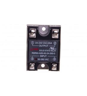 Przekaźnik półprzewodnikowy 1P 24-280VAC/25A Uster  50-280V DC RSR50-A28-A0-24-250-0 2612038