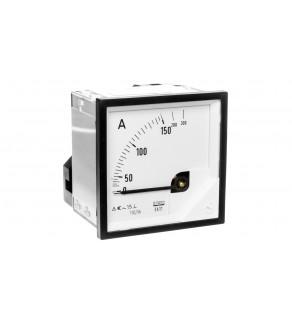 Amperomierz analogowy tablicowy 150/300A do przekładnika 150/5A 72x72mm IP50 C3 K 90 st. EA17N F41700000000