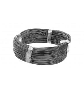 Przewód silikonowy SiF 1x0,5 czarny 300/500V 23301 /100m