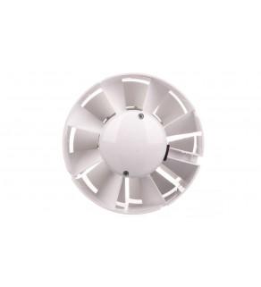Wentylator kanałowy fi 125 230V 16W 190m3/h 38dB o przepływie mieszanym z timerem biały 125VKO1T