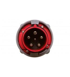 Wtyczka tablicowa 63A 5P 400V czerwona IP67 POWER TWIST 635-6